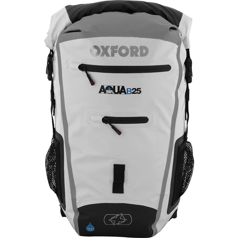 Oxford Aqua B-25 Motorcycle Motorbike All Weather Waterproof Backpack 25L White/Grey