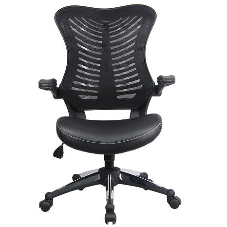 Homdox ergonómico silla de oficina (respaldo de malla, transpirable y giratorio altura ajustable con