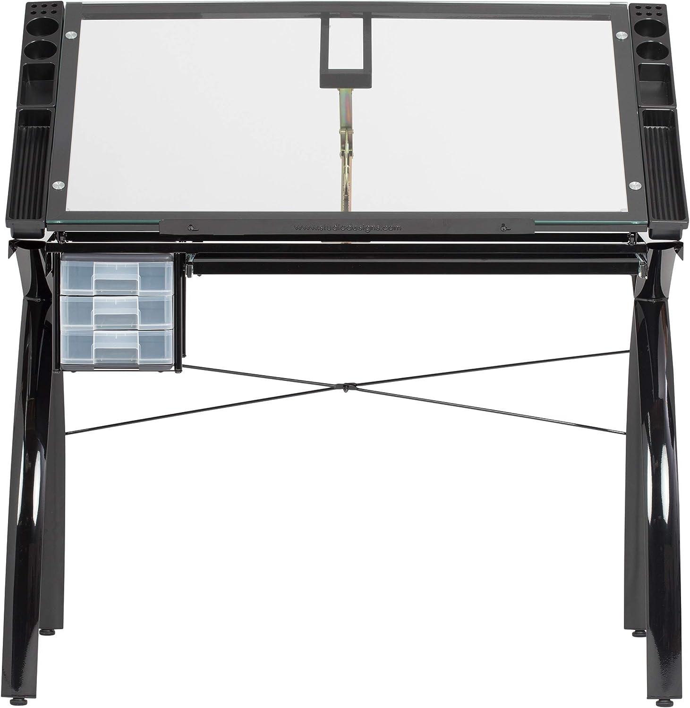 Studio Designs Futura Craft Station, Vidrio/Metal, Negro/Transparente: Amazon.es: Hogar