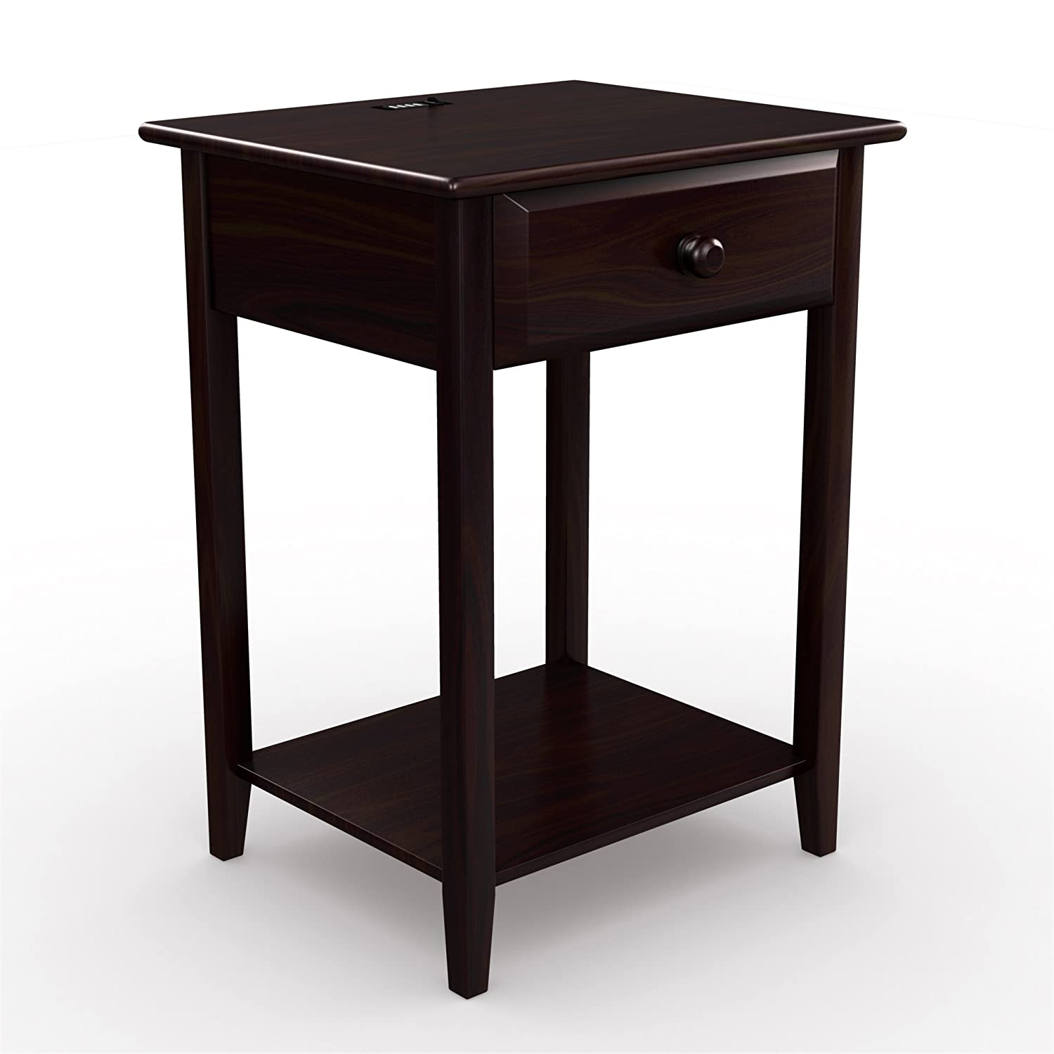 Amazon.com: Stony-Edge Night Stand End Accent Table, with USB Port ...