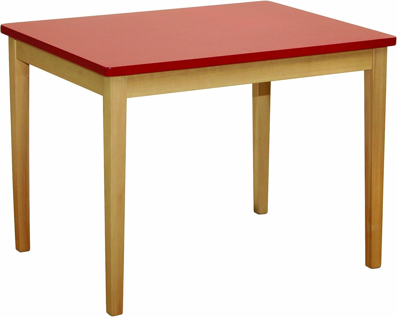 roba 50723 Tavolo in legno per bambini, 67,5 x 51 x 50 cm, colore: Rosso