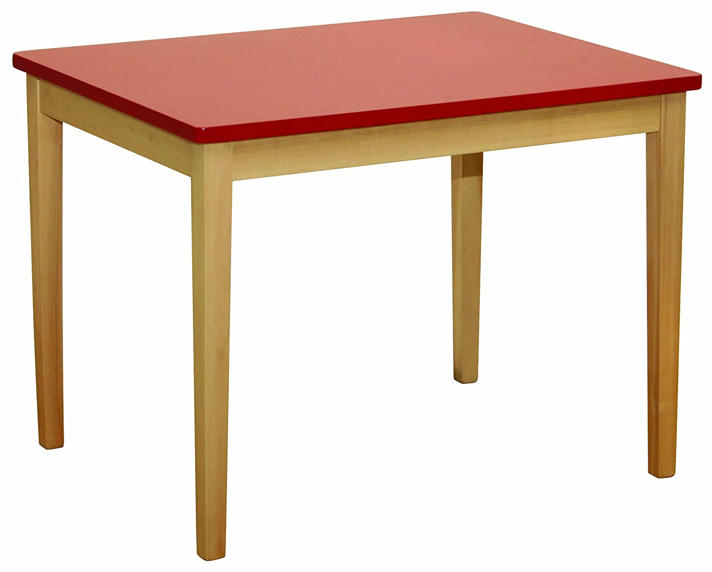 roba Kindertisch, aus Massivholz gefertigt, Tischplatte rot lackiert B000UYPTPW