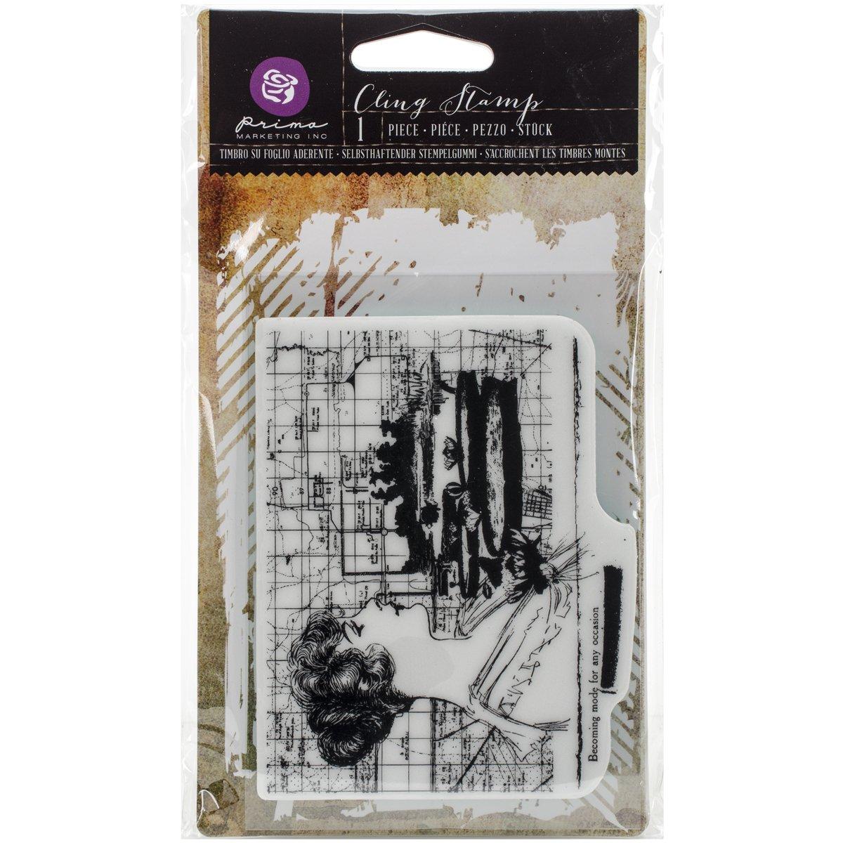 Prima Marketing Cling Stamp 3.5X5 La Mode
