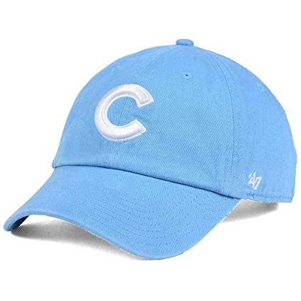 8224c2a80d17c Image Unavailable. Image not available for. Color   47 Chicago Cubs C  Womens Powder Blue Strapback Slouch Clean Up Dad Cap Hat
