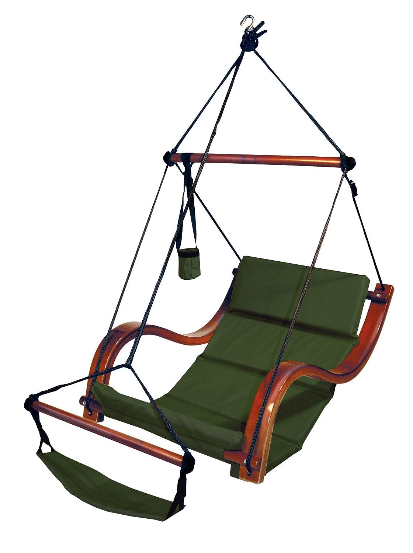 Amazon.com : Hammaka Nami Deluxe Hanging Hammock Lounger Chair In Blue :  Deluxe Beach Wood Hammock Swing : Garden U0026 Outdoor
