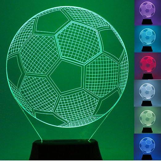 Usun 3d Beleuchten Led 7 Farbe Fussball Fussball Bulbing Illusion Nachtlicht Schreibtisch Tabellen Licht Lampe
