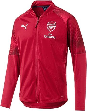 2e2099221 Puma Men's Arsenal Fc Stadium Jacket With Sponsor Logo With Zipped Pock  Track