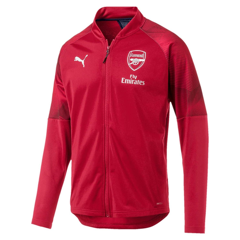 Puma Herren Arsenal Fc Stadium Jacket Sponsor Logo with Zipped Pock Trainingsjacke