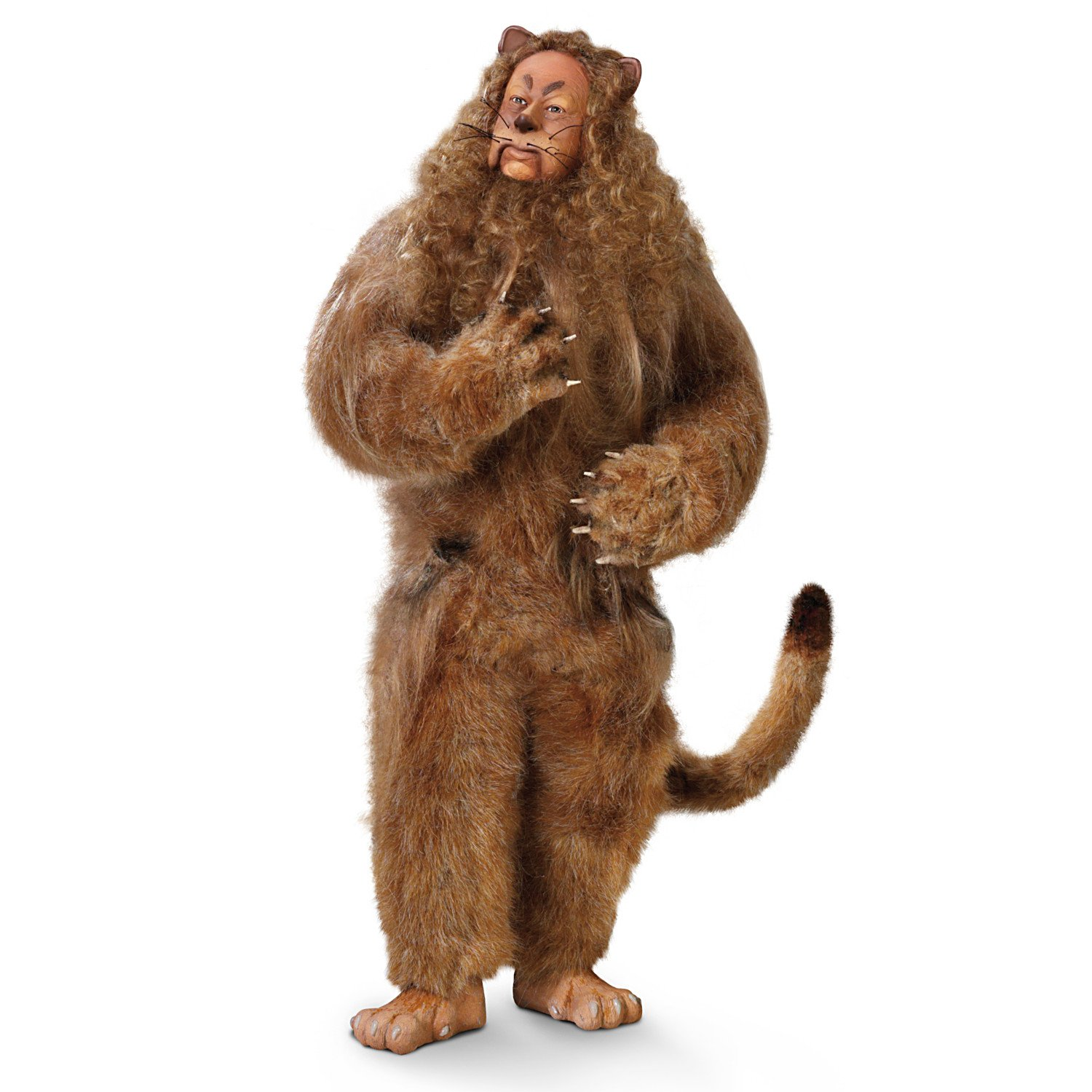 The Wizard Of Oz Cowardly Lion Collectible Poseable Singing Doll by The Ashton-Drake Galleries