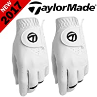 """50% OFF"" TAYLORMADE SPORT SERIES MENS ALL WEATHER GOLF GLOVE TWIN PACK 2 PACK"