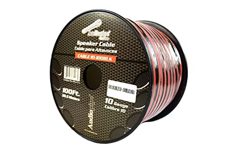 10 2 Wire >> 100 Ft 10 Gauge Awg Red Black Stranded 2 Conductor Speaker Wire Car Home Audio