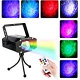 Miric Party Lights with Remote Control, DJ lights Disco Ripple Effect Lights Sound Activated LED RBG Strobe Light Mini for Party Home Birthday Karaoke Wedding Dancing