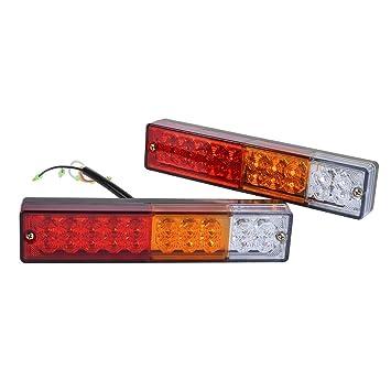 Anzene 2Pcs LED Anhängerbeleuchtung LKW Rücklicht Bar 20 LEDs Rot ...