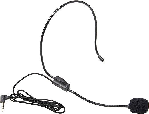 Eboxer Micro Casque Mini Microphone Headset à Condensateur Filaire 3.5mm Jack Haut Parleur Amplificateur Ordinateur