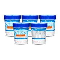 [25 Pack] 10 Panel Urine Drug Testing Cups with Temperature Strip, Fast Results, Drug Test Detects up to 10 Drugs - AMP BUP BZO COC MDMA MET MTD OXY OPI THC, Multi-Drug Test