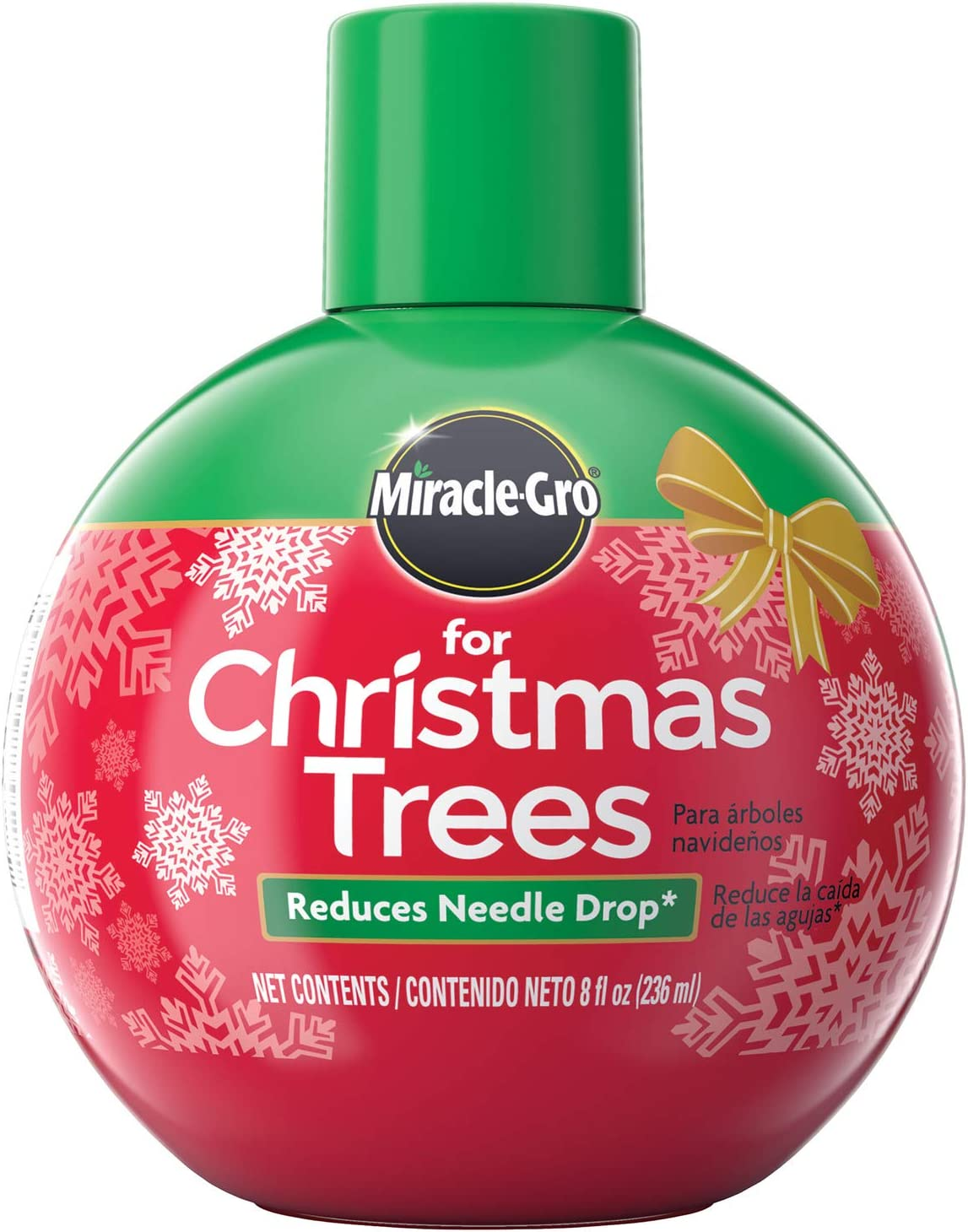 Miracle-Gro VB300515-2 Plant Food, Hydrates Keeps Green All Holiday Season, 2-Pack Christmas Trees, 2 Pack, red