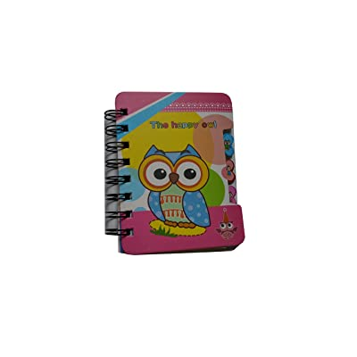 Spiral Bound The Happy Owl Pink Lined Journal: Toys & Games