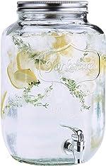 Estilo 2 gallon Glass Single Mason Jar Beverage Drink Dispenser With