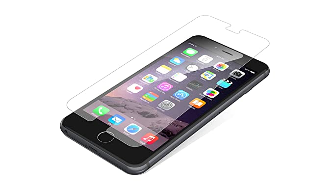 more photos 89252 bb03b ZAGG InvisibleShield Case Friendly Glass Screen Protector for Apple iPhone  6 Plus/ iPhone 6S Plus