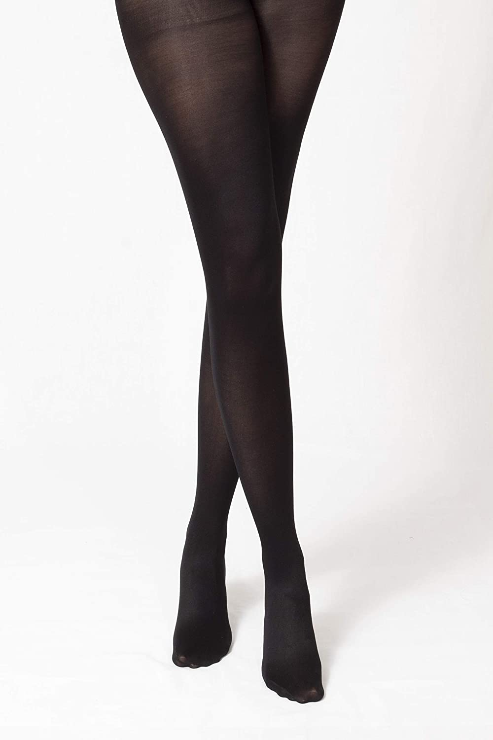 3 Pairs Leamel All Day Comfort Run Resistant 40 Denier Opaque Matte Finish Tights Multipack