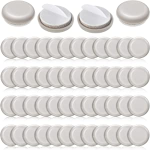 48 Pieces 1 Inch Self-Stick Furniture Sliders, Self Adhesive Furniture Moving Pads Round Furniture Movers Furniture Glides for Carpet Slider, Moving Furniture Sliders