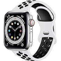 Epova Bransoletka sportowa kompatybilna z zegarkiem Apple Watch, 38 mm, 42 mm, 40 mm, 41 mm, 44 mm, 45 mm, oddychający…