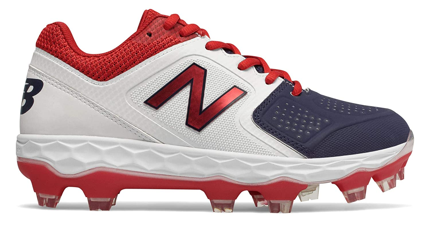 [New Balance(ニューバランス)] 靴シューズ レディース野球ソフト Fresh Foam SPVELOv1 B07JBB4CQJ 28.0 cm|Red with White and Blue Red with White and Blue 28.0 cm