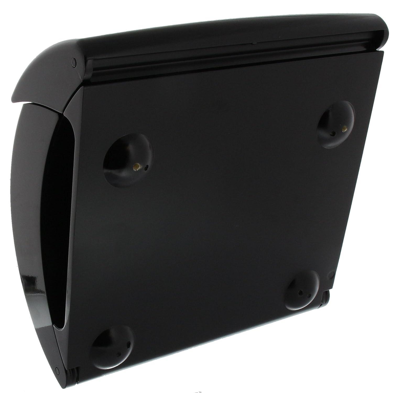Hochwertiger Kunststoff Merlot Piano 886 M Briefkasten mit integriertem Zeitungsfach in Klavierlack-Optik EU Norm EN 13724 A4 Einwurf-Format BURG-W/ÄCHTER