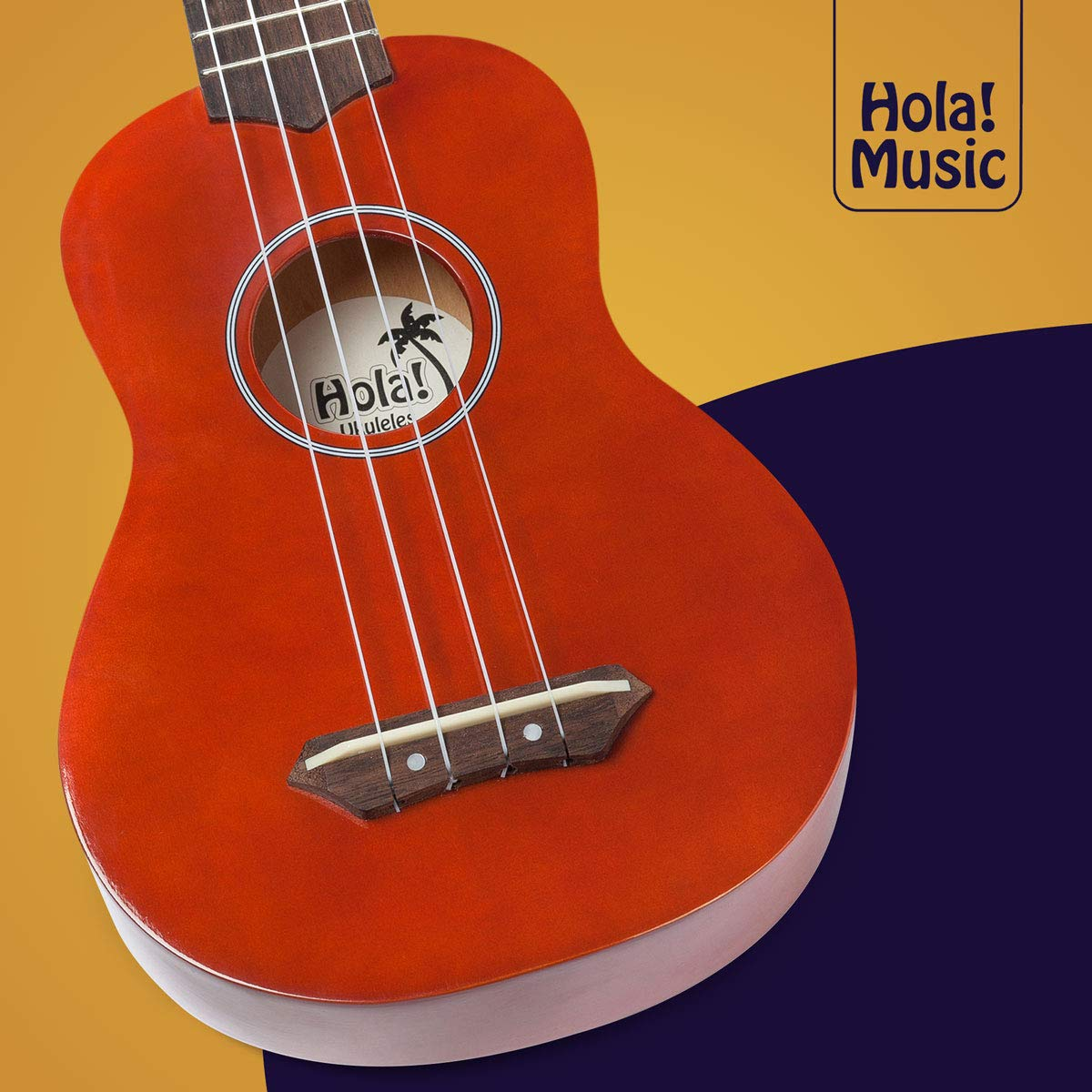 Hola! Music HM-21MG Soprano Ukulele Bundle with Canvas Tote Bag, Strap and Picks, Color Series - Mahogany by Hola! Music (Image #5)