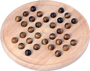 Engelhart - Bonito Juego de Solitario en inglés, 33 Hoyos de Madera de 23 cm - 200119: Amazon.es: Juguetes y juegos