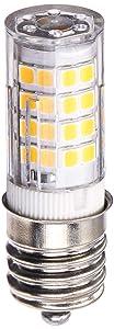 SHINE HAI E17 LED Bulb Microwave Oven Light, 500 Lumens, Daylight White 5000K, 5W (50W Halogen Equivalent), 50x2835 SMD AC110-130V, Pack of 2