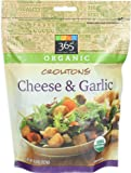 365 Everyday Value, Organic Croutons Cheese & Garlic, 4.5 Ounce