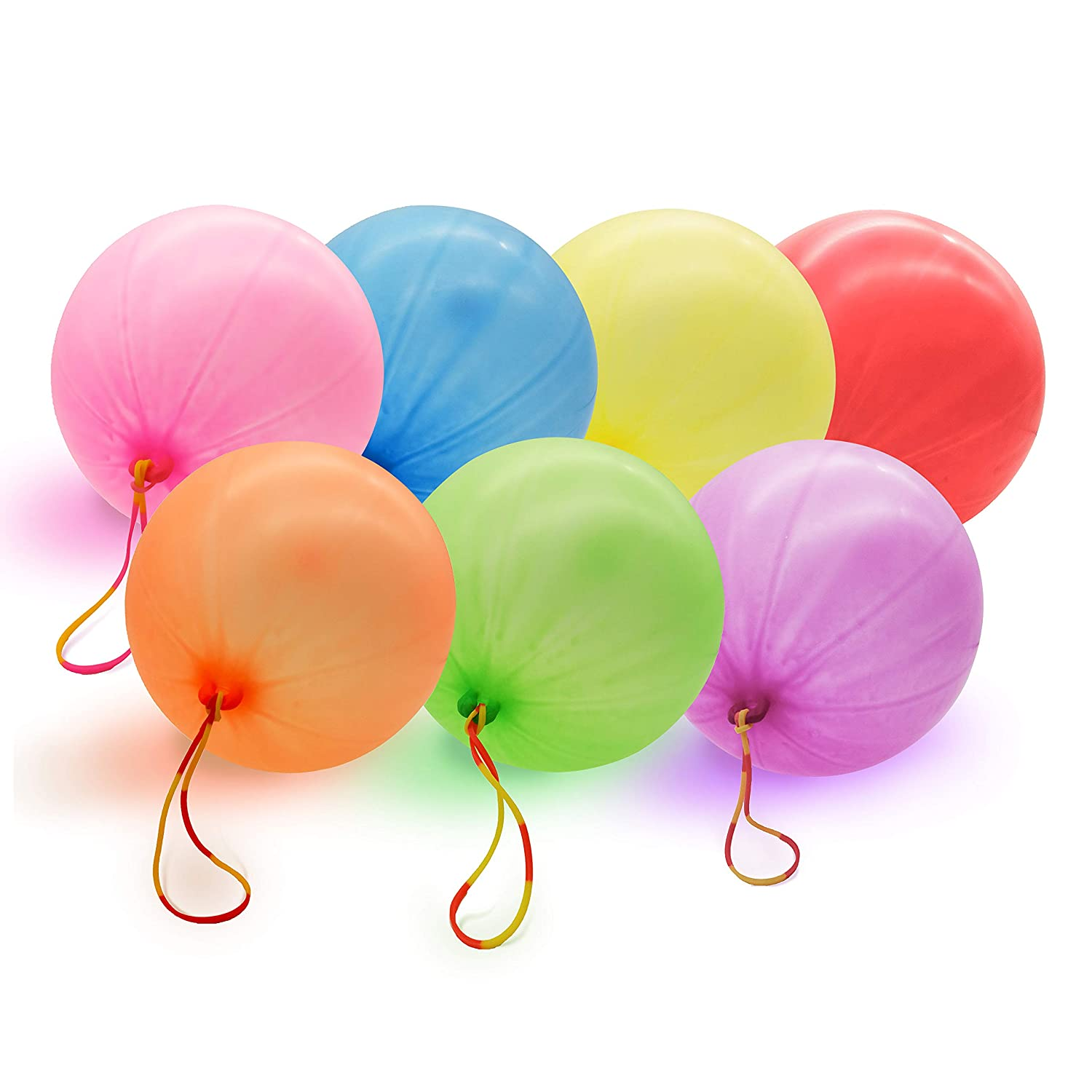 "Neon Punch Balloons - 35PCS 12"" - Fun-Filled Kids Games and Party Games"