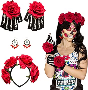 Set disfraz La Catrina Accesorio mexicano Banda del pelo ...