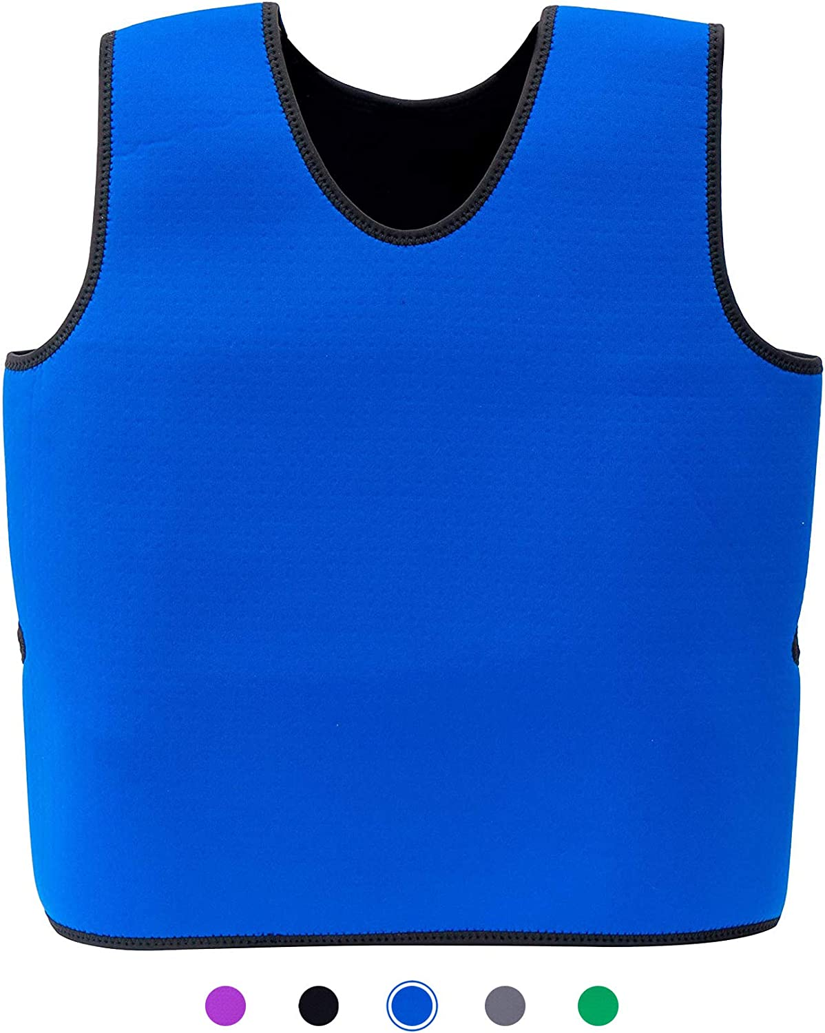 Special Supplies Sensory Compression Vest Deep Pressure Comfort for Autism, Hyperactivity, Mood Processing Disorders, Breathable, Form-Fitting, Kids and Adult (Blue, XX-Small 12x20 inches)