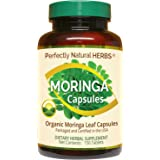 150 Moringa Capsules Made With USDA Certified Organic Moringa Leaf Powder, Net Weight of 500mg per Capsule