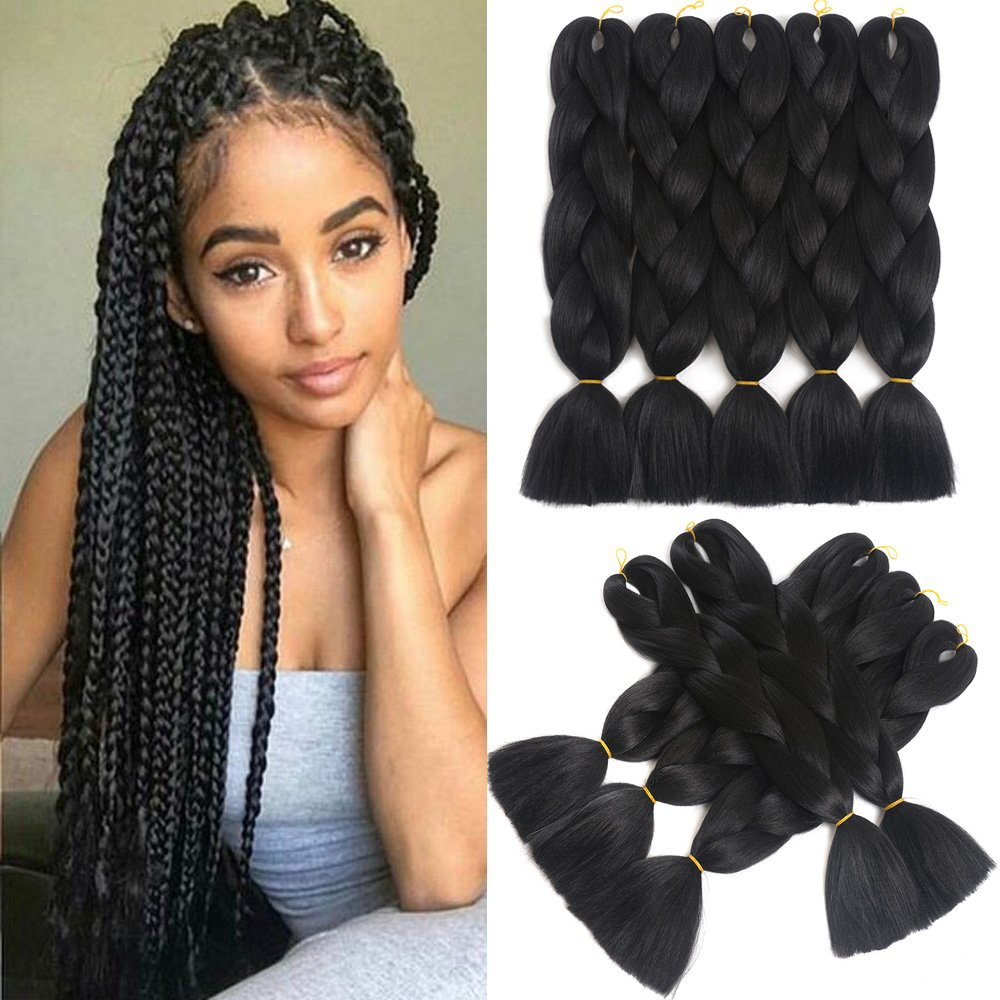 Amazon 5 Pieces Dalin Ombre Synthetic Braiding Hair Extensions