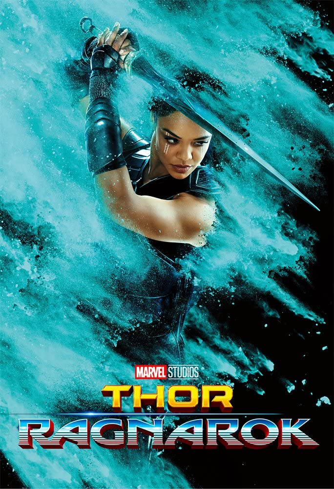 Movie Poster Thor 3 : Ragnarok (2017) - Valkyrie - 13 in x 19 in Flyer Borderless + Free 1 Tile Magnet