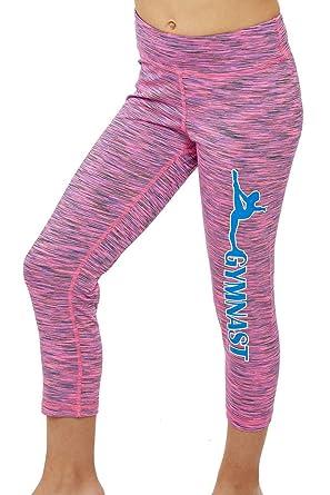 76d935d4c Amazon.com  Lizatards Space Dye Capri Gymnast Pants In Pink Blue ...