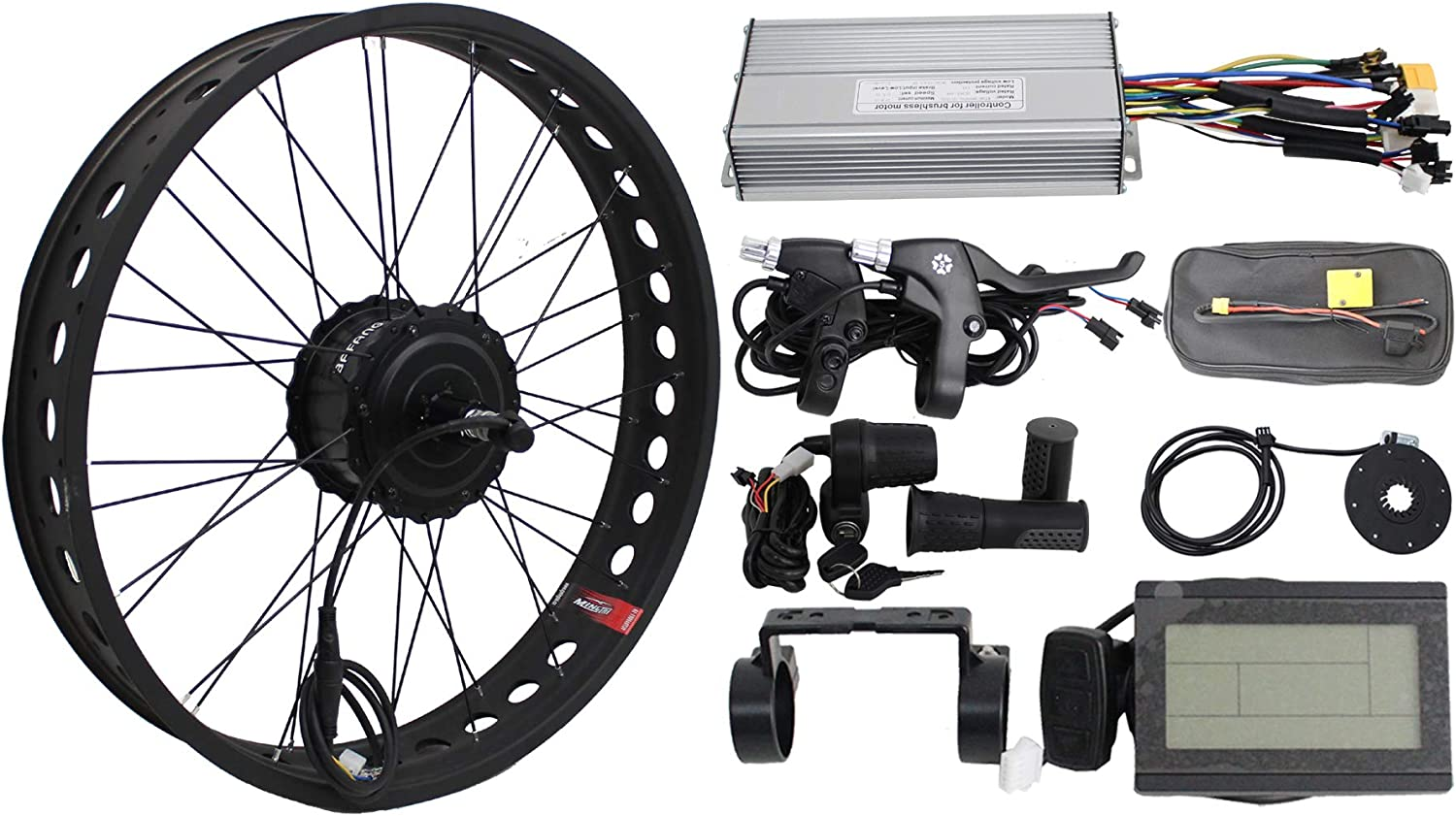 """Customized 20/""""//24/""""//26/""""x 4.0 Fat Tire for Snow E-bike Conversion Kit in Our Store"""