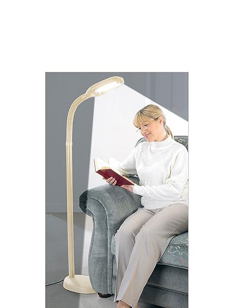 Lifemax 24w high vision reading lamp beige floor