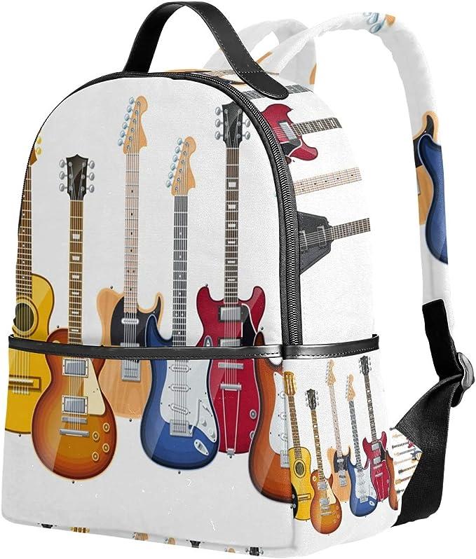 Ahomy Mochila Escolar, Guitarra eléctrica, Bolsa de Viaje, Mochila ...