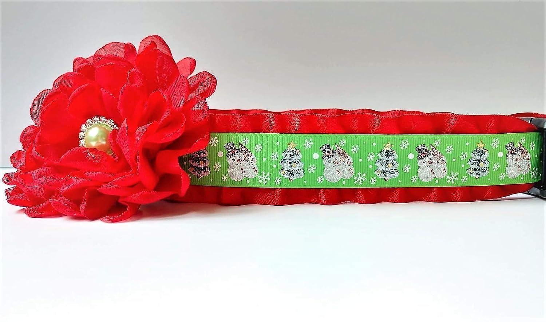 Dog Collar Snowman /& Christmas Tree