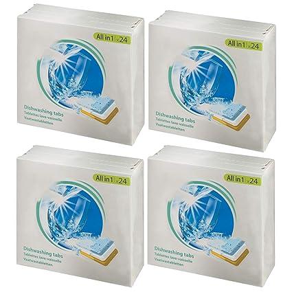 SPARES2GO - Pastillas descalcificadoras para lavavajillas (96 ...