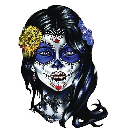 702b7d78ba2bf Amazon.com: Sugar Skull Woman Sugar Face Decal Sticker Set of 2: Home  Improvement