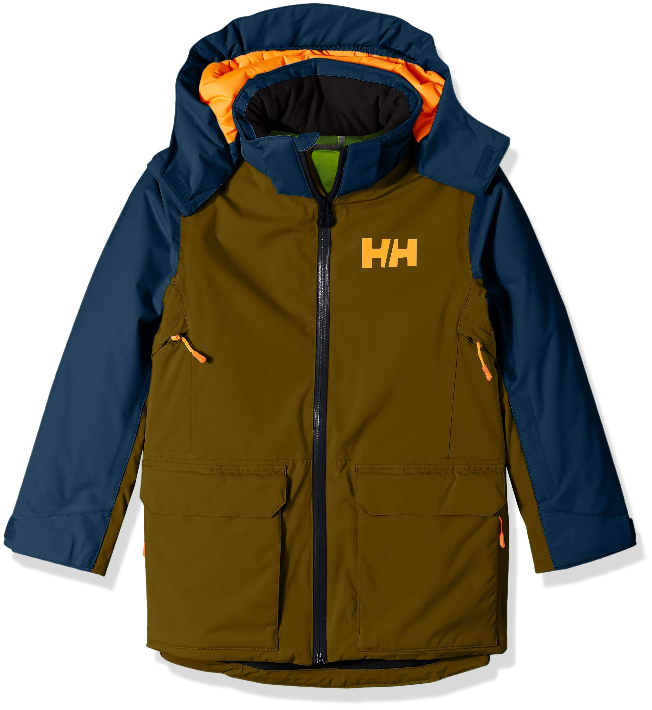 Helly Hansen Jr Waterproof Skyhigh Ski Jacket, Fir Green, Size 10