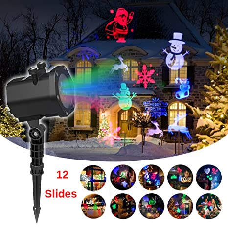Christmas Led Projector Light Outdoor Garden Decoration 12