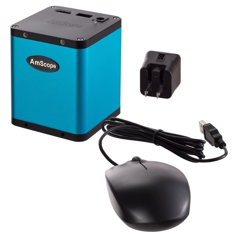 Amscope 1080p auto focus C-Mount microscopio fotocamera con HDMI + USB mouse