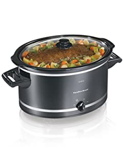 Hamilton Beach 755263231981 33182A Slow Cooker, 8 Quart, Black