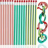 Super Colorful Magic Bendy Flexible Soft Pencil with Eraser for Kids Writing Gift, Pack of 20